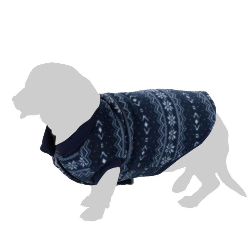 Pull-over Cristaux de glace pour chien - longueur du dos : 35 cm environ (taille L)