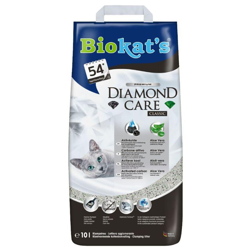 10 L Diamond Care Classic Litière Biokat's pour chat