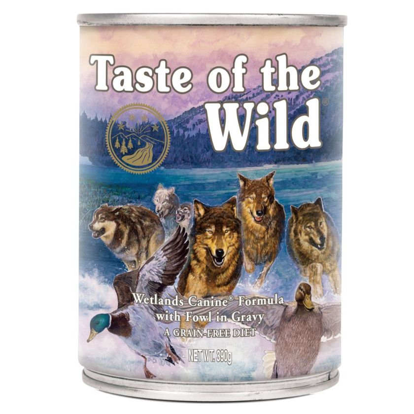 6x390g Wetlands Canine Taste of the Wild - Aliment pour Chien