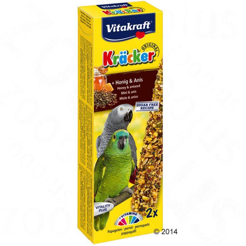 6x Crackers miel / anis Vitakraft pour perroquet - Friandises pour perroquet