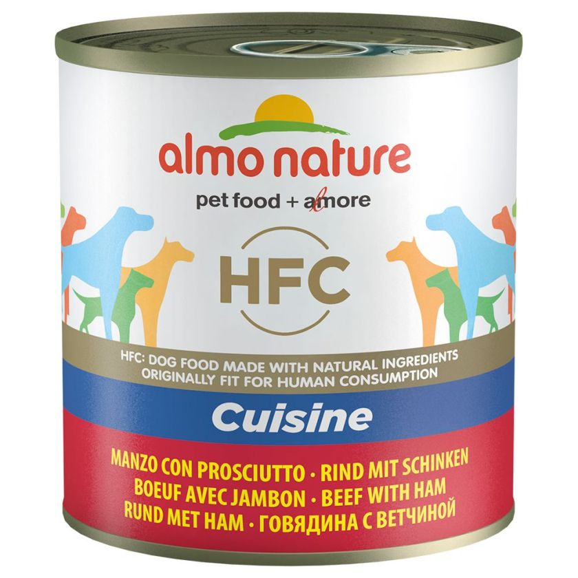 6x290g veau, jambon Almo Nature Classic - Nourriture pour chien