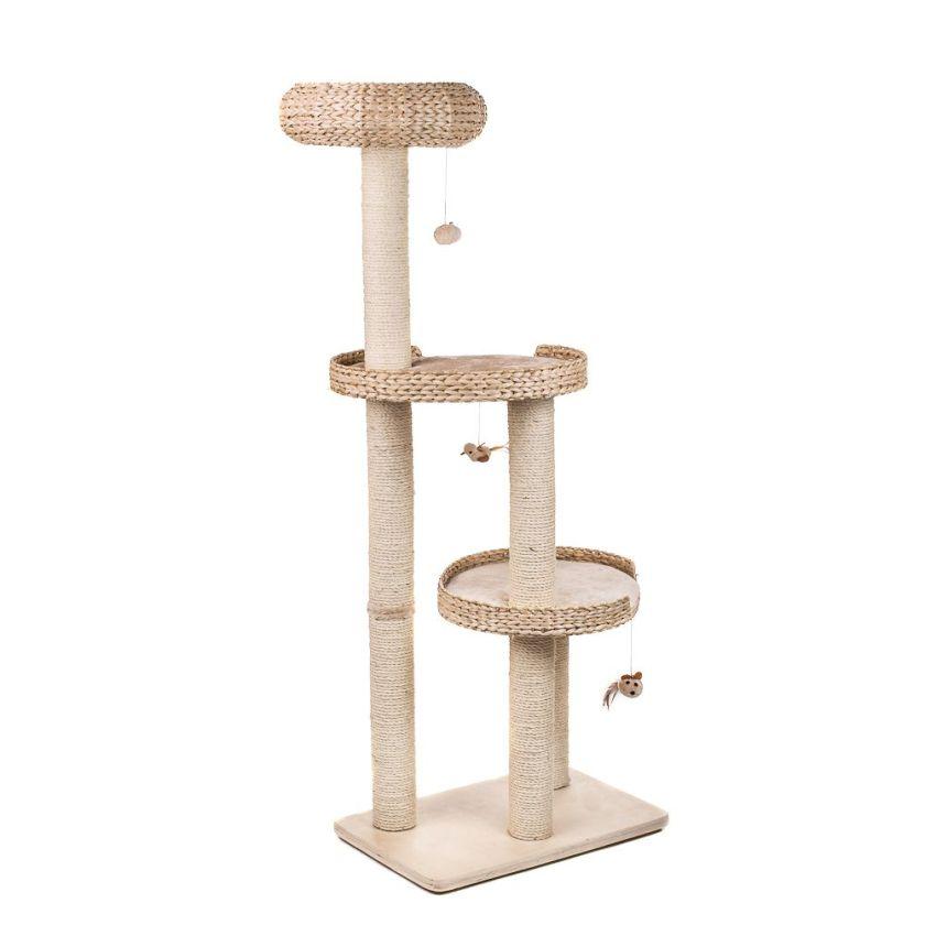 Arbre à chat Natural Home III - L 60 x l 40 x H 154 cm