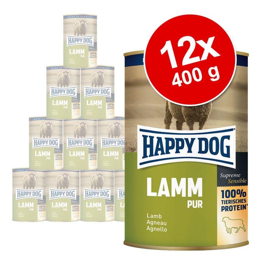 12x400g lot mixte Happy Dog - Nourriture pour chien