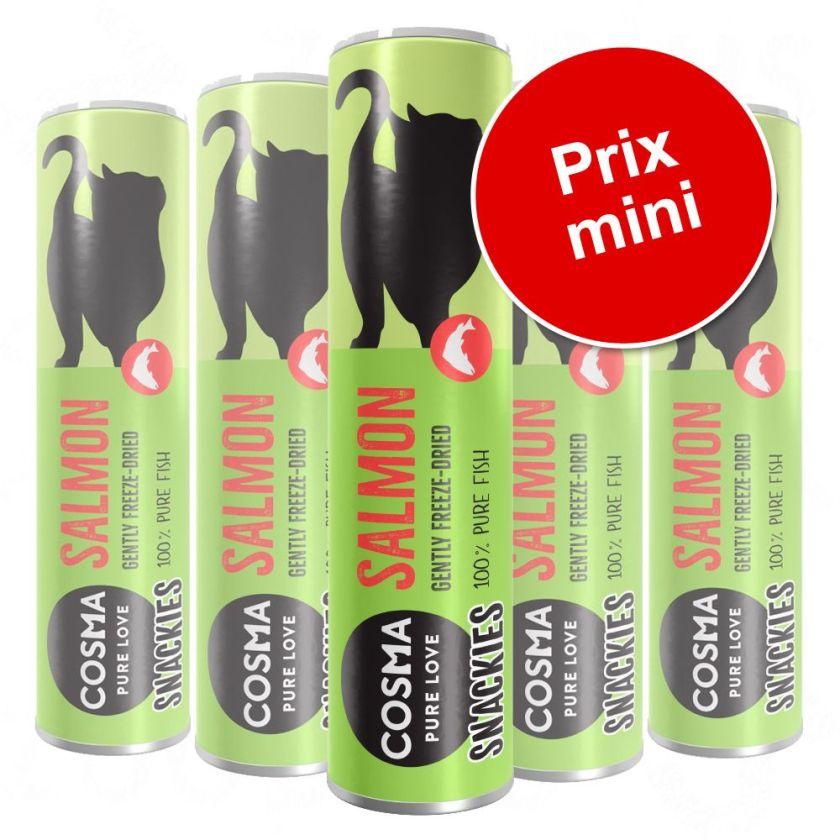 Lot Cosma Snackies Friandises lyophilisées pour chat - 5 x thon (125 g)
