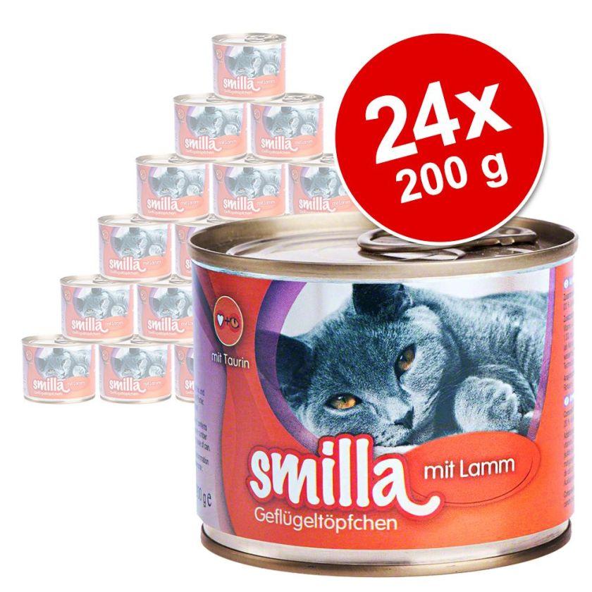 24x200g volaille, bœuf Smilla - Nourriture pour Chat