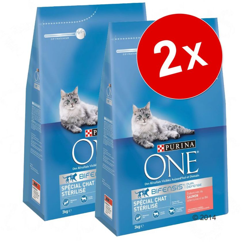 2x1,5kg Chat d'Intérieur dinde céréales complètes PURINA ONE - Croquettes pour chat