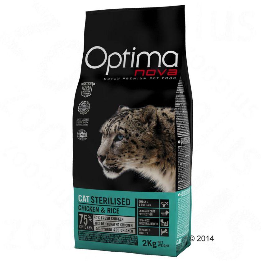 Optimanova Sterilised pour chat - 2 x 8 kg