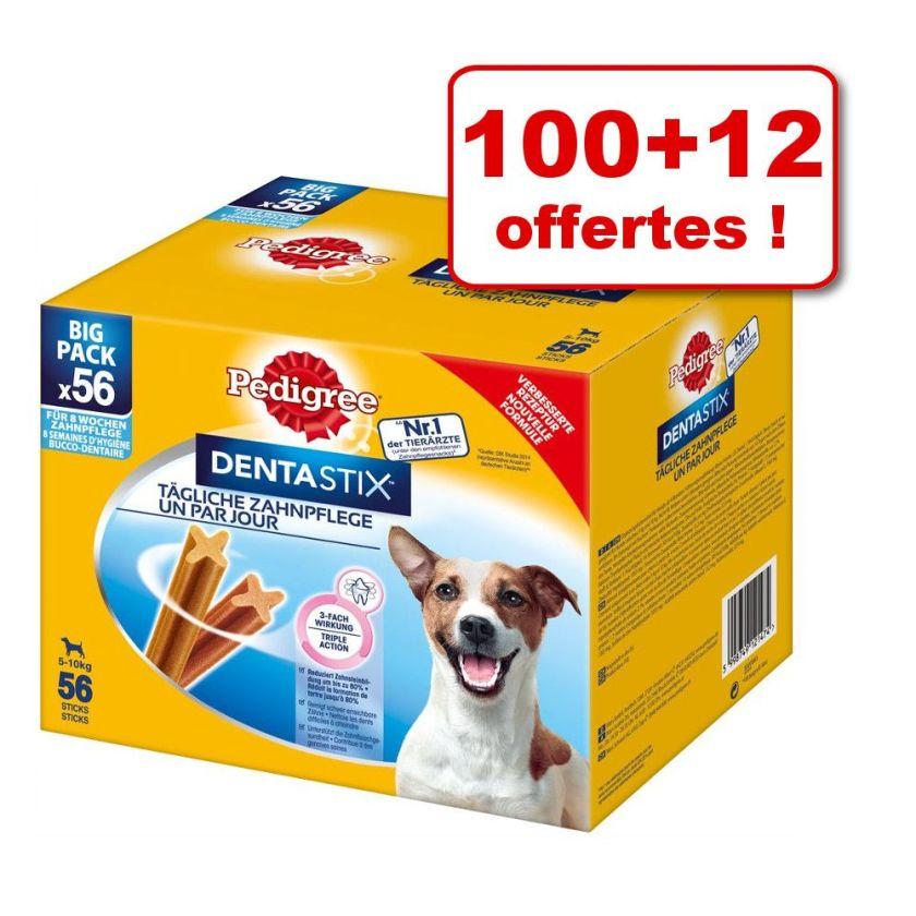 Friandises Pedigree Dentastix 100 + 12 offertes ! - Dentastix Daily Oral Care (x56) + Daily Fresh (x56) Maxi pour grand chien