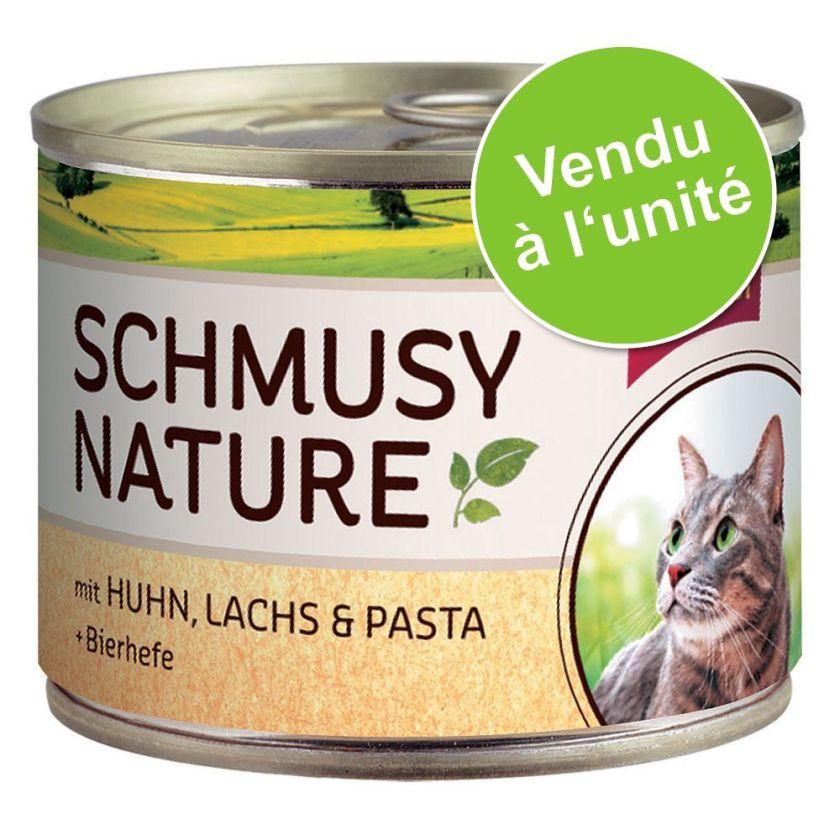 Schmusy Menu Nature 1 x 190 g pour chat - gibier, thon, pâtes