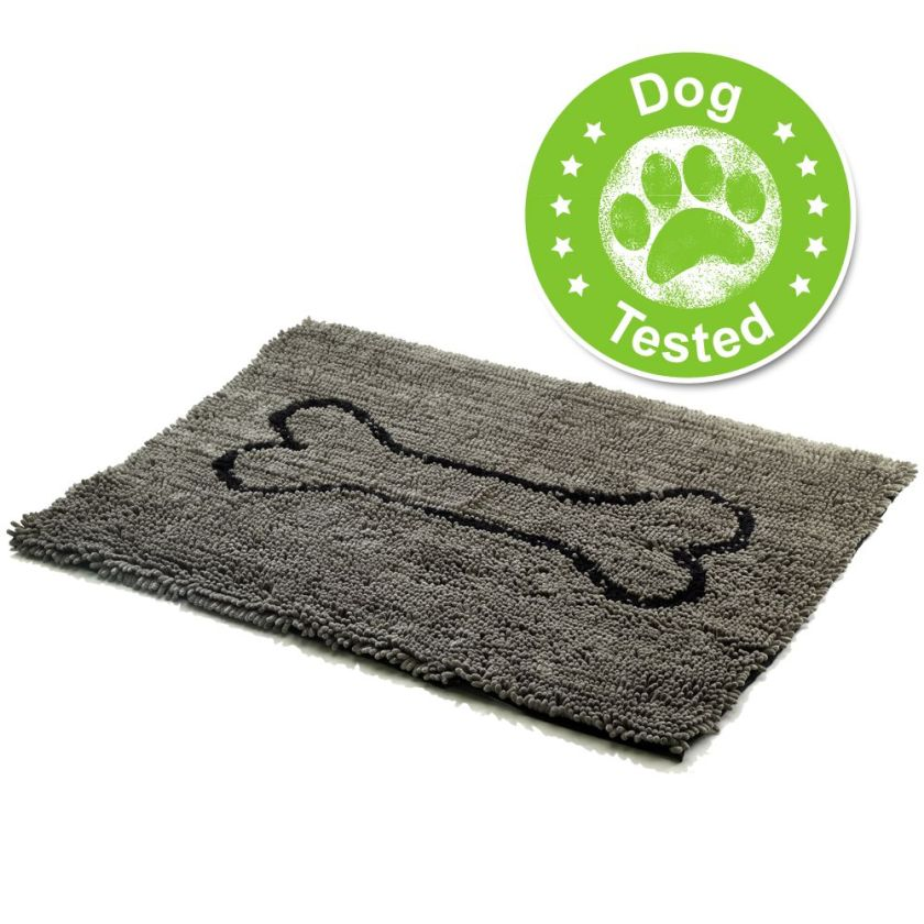 Tapis Dog Gone Smart Dirty Dog, gris pour chien - L 90 x l 66 x H 2,5 cm