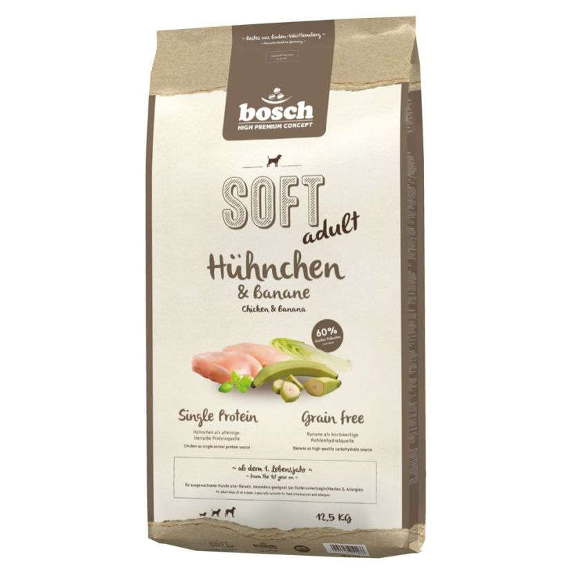 2,5kg Soft poulet, banane bosch pour chien - Croquettes molles pour chien