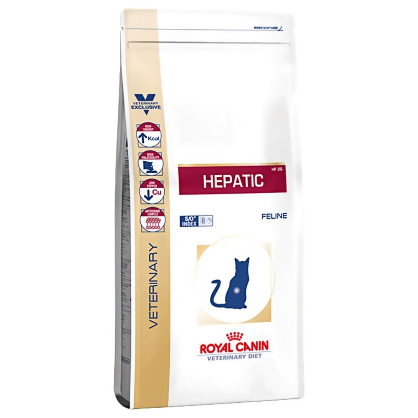 2kg Hepatic Feline HF26 Royal Canin Veterinary Diet - Croquettes pour Chat