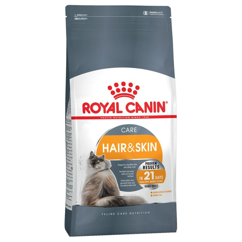 10kg Hair & Skin Care Royal Canin Croquettes pour chat