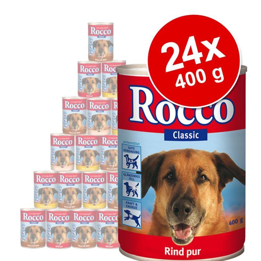 Lot Rocco Classic 24 x 400 g pour chien - pur bœuf