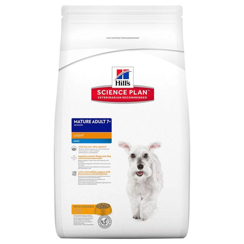 2,5kg Mature Adult Light 7+ Mini Hill's Canine Poulet Croquettes pour chien
