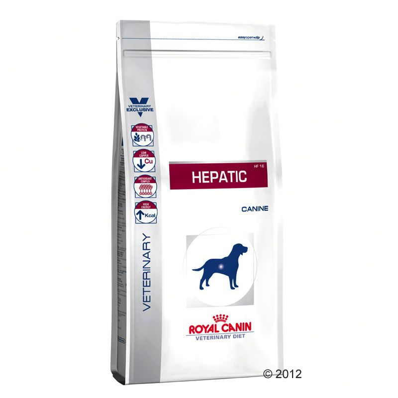 12kg Hepatic HF 16 Royal Canin Veterinary Diet Croquettes pour chien