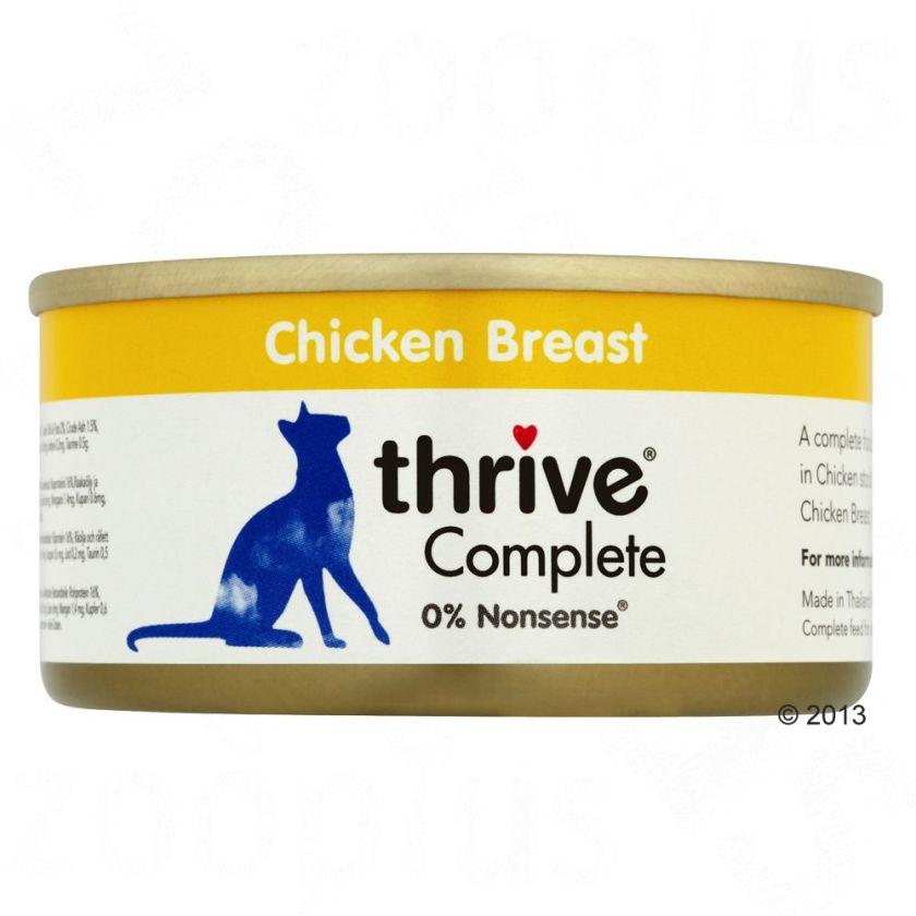 6x75g blanc de poulet, foie Thrive Complete - Nourriture pour Chat