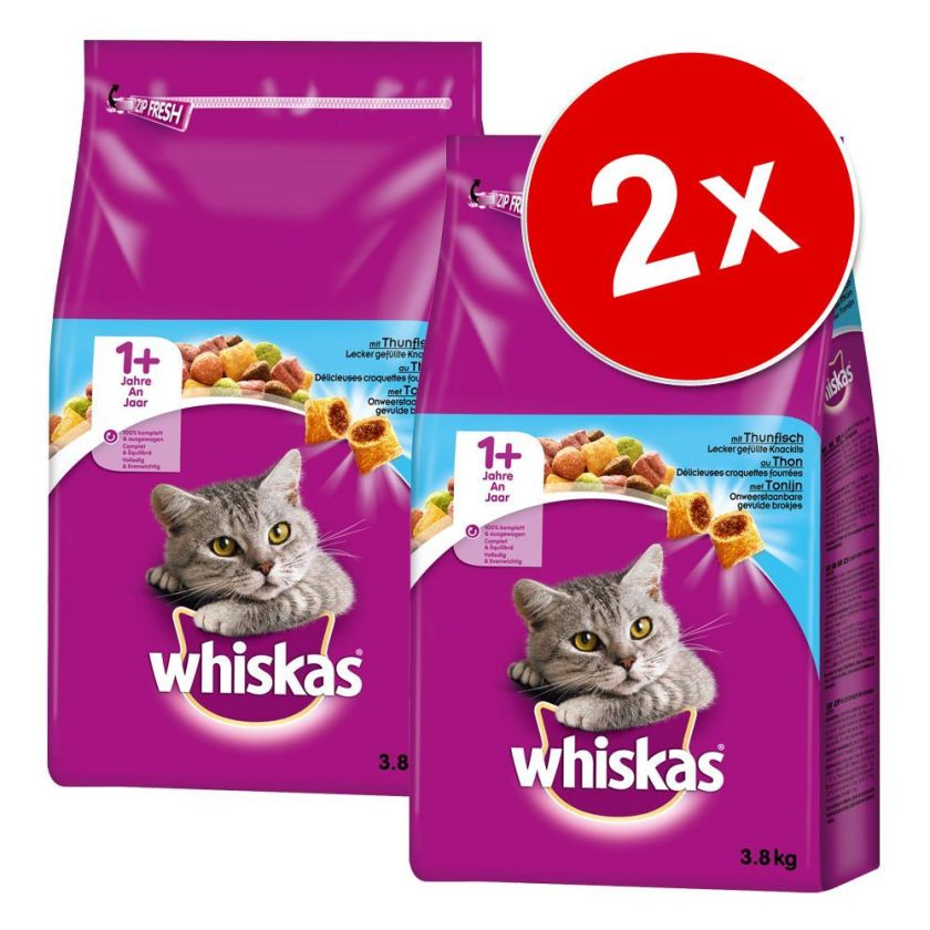 Lot Whiskas 2 x 950 g / 1,9 kg / 3,8 kg pour chat - Junior (2 x 1,9 kg)