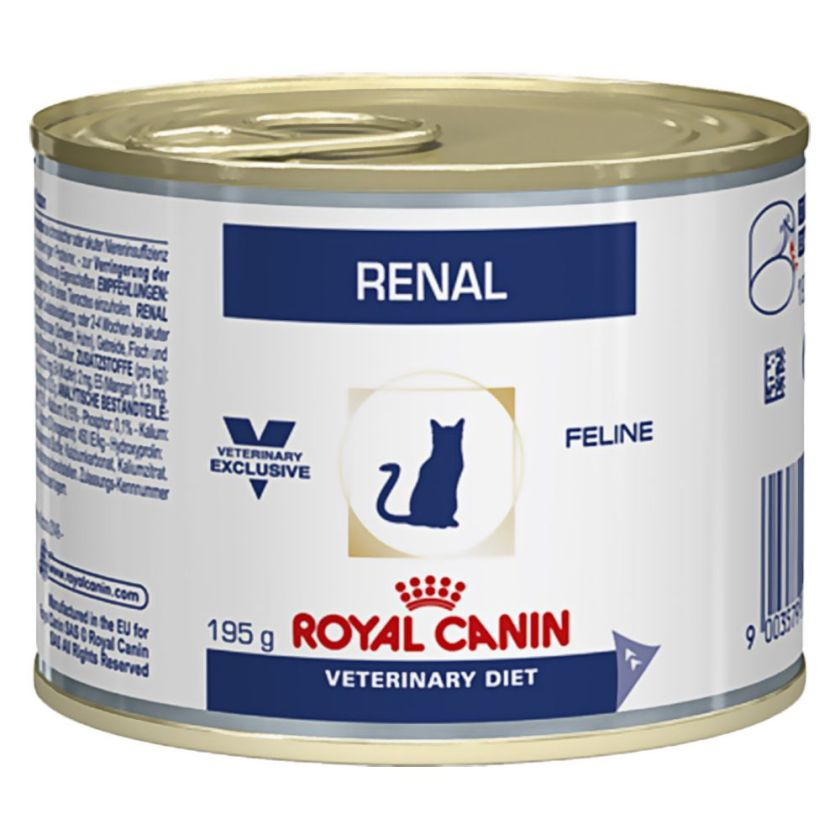 48x195g Renal Poulet Royal Canin Veterinary Diet Boîtes pour chat