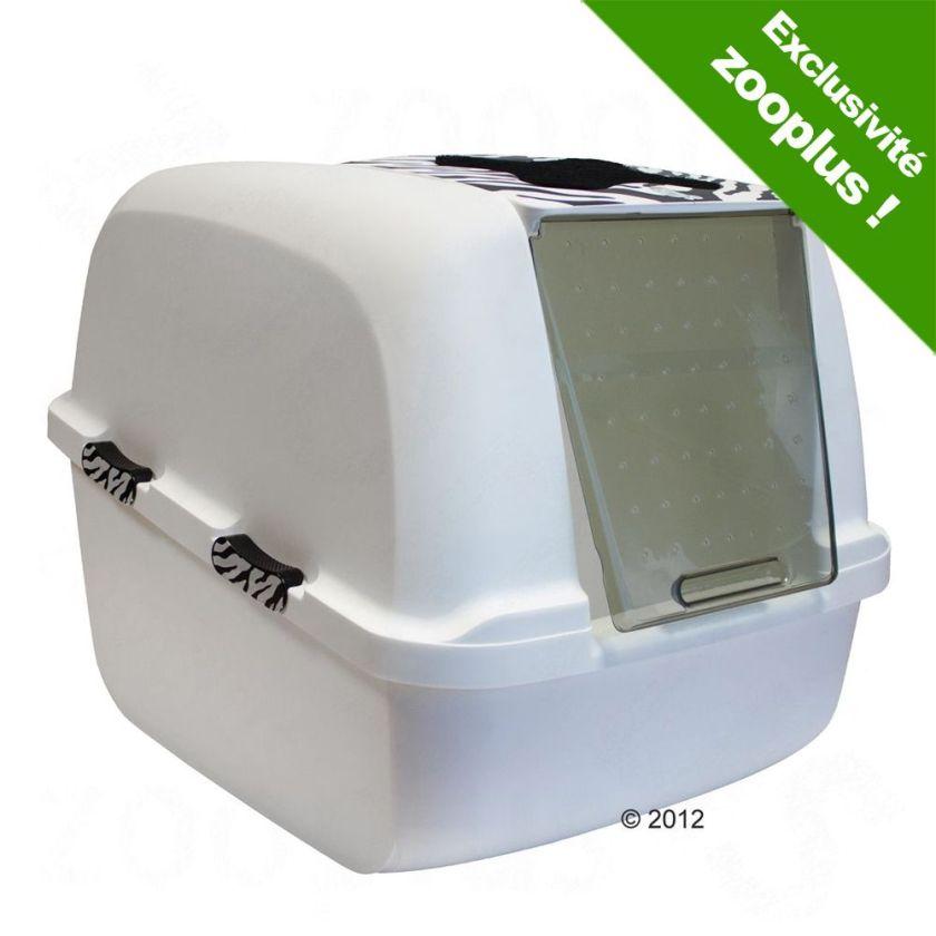 Maison de toilette Catit Jumbo White Tiger pour chat - 8 filtres de rechange