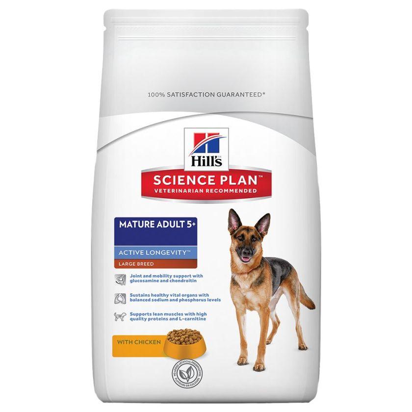 18kg Mature Adult Senior Large Breed Hill's Canine Croquettes pour chien