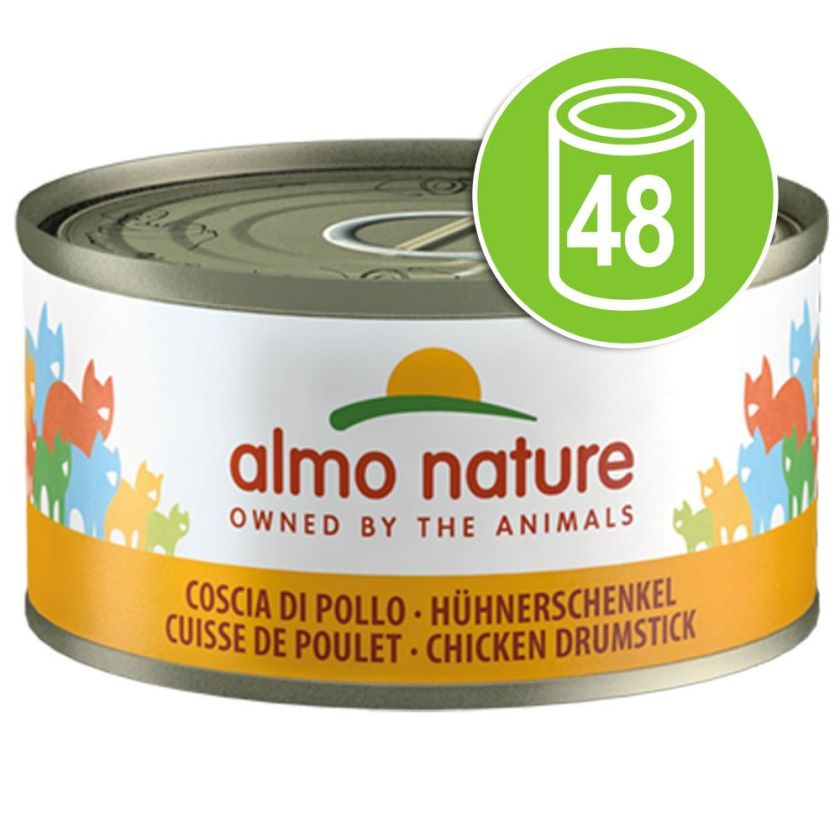 48x70g saumon Almo Nature Legend - Nourriture pour Chat