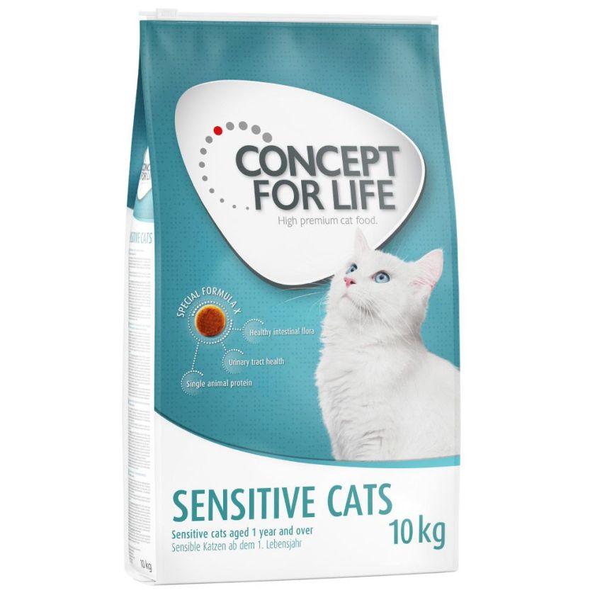 10kg Sensitive Cats Concept for Life - Croquettes pour Chat