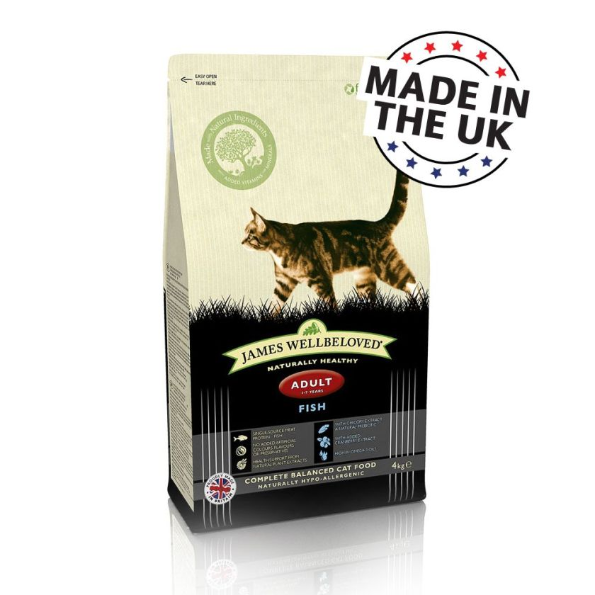 James Wellbeloved Adult Cat, poisson pour chat - 10 kg
