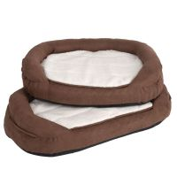 Oval Memory Foam Dog Bed - Brown | Free P&P 29+