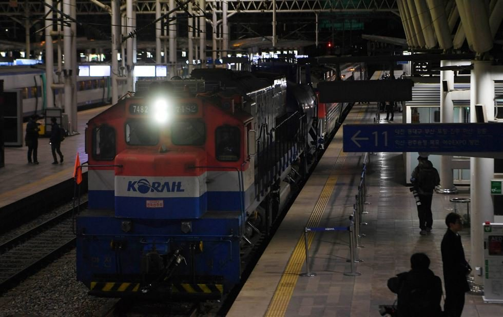 South Korean Train Travels To The North For Joint Railway