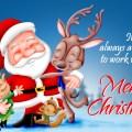Pleasure working working with you christmas ecard cute christmas