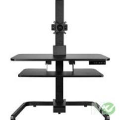 Office Chair Riser Support For Back Uncaged Ergonomics Electric Standing Desk Conversion Black Mx69338
