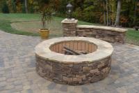 Waxhaw, NC fire pit from Fine Edge Landscape Design in ...