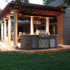 Outdoor Kitchen Ideas For Small Spaces Grommet Curtains Custom Rooms And Kitchens The Fire Escape In
