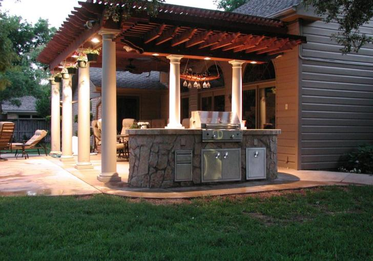 Outdoor Stone Dining Table