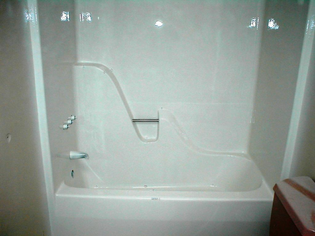 fiberglass tub shower