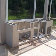 Outdoor Kitchen Frame Best Stainless Steel Sinks And Backer From Louisiana Kitchens Of Austin