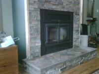 Slate fireplace from JLC Tile Works in Forest Lake, MN 55025
