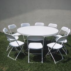 Party Rentals Tables And Chairs Black Metal Folding Round Table W 8 22 00 From Ez 2 Jump Supply