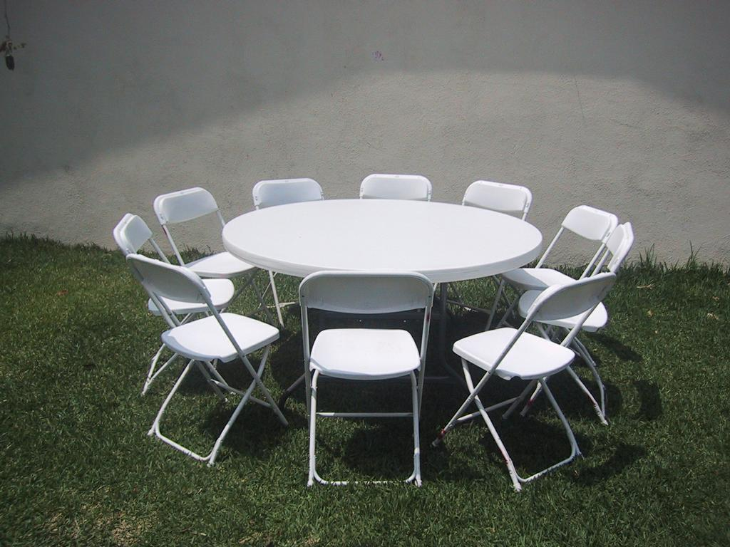 Chairs And Table Rental Round Table W 8 Chairs 22 00 From Ez 2 Jump Party Supply