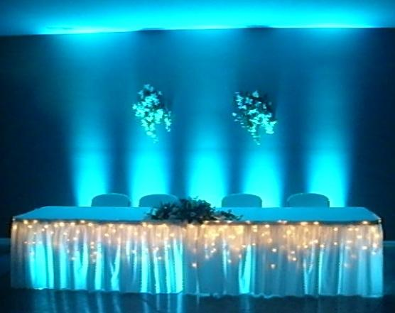 Fort Wayne Head Table Uplighting And Under Table Lighting