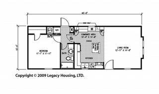 Legacy 1644-11-FLA, 1 Bedroom mobile home Dealer in Tyler