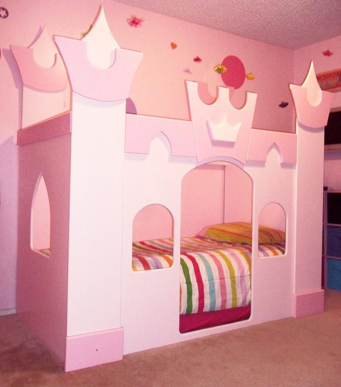 PETITE PRINCESS CASTLE BED 01 from Neverland Theme Beds in