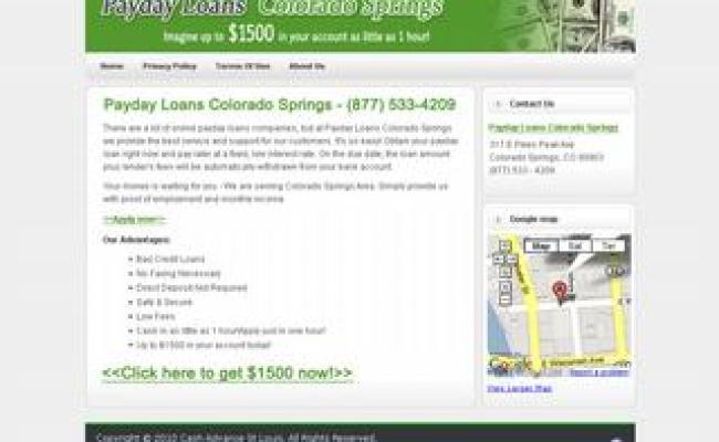 Payday Loans Colorado Springs Colorado Springs Co 80903