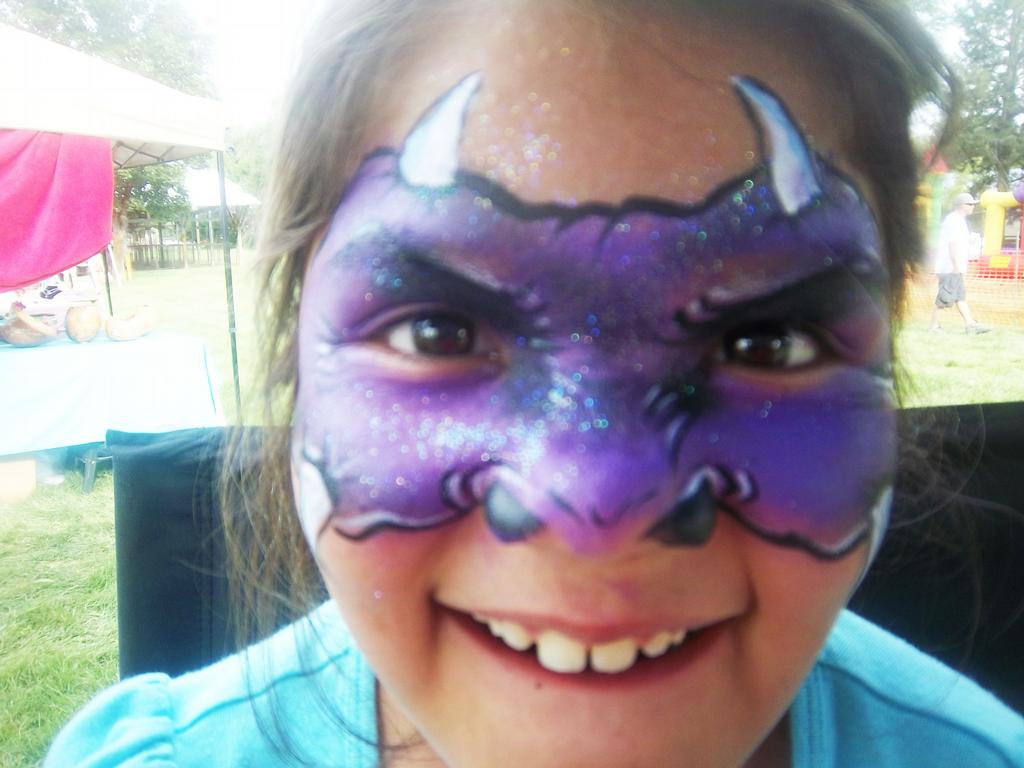 horned beast face painting