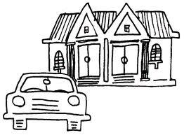 house with car clip art from Property Management Support