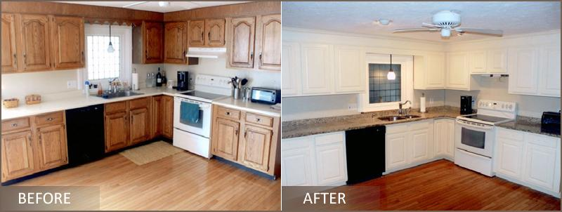 Refinishing Kitchen Cabinets Before And After Photos www