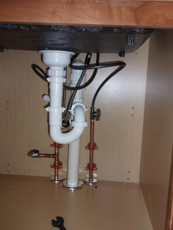 Wiring Diagram For Dish Network Newly Installed Kitchen Sink Drain And Water Lines From