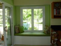 window seat design, fabric selection and cushion ...