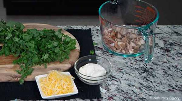 Cilantro and Garlic Infused Shrimp Tacos Step1